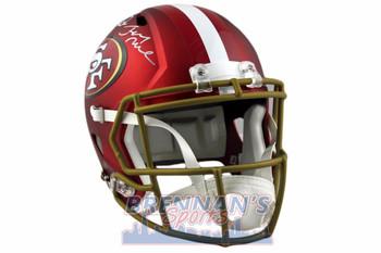 Montana, Rice, Young Autographed Autographed 49ers Full Size Blaze Speed Helmet - JSA