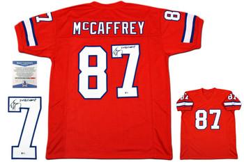 Ed McCaffrey Autographed Signed Jersey - Beckett Authentic - Orange