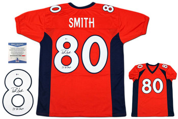Rod Smith Autographed Signed Jersey - Beckett Authentic - Orange
