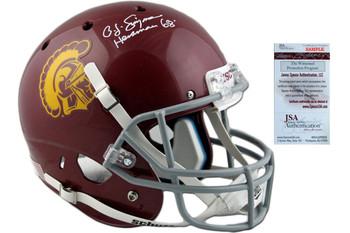 OJ Simpson Autographed USC Trojans Full Size Helmet