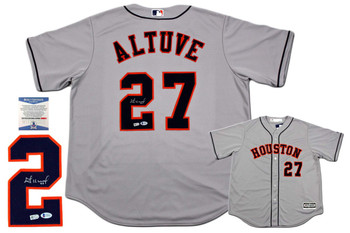 Jose Altuve Autographed Signed Houston Astros Majestic Jersey - MLB Authentic