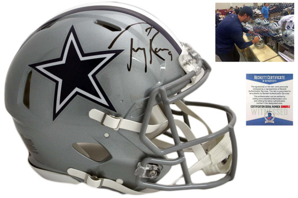 Tony Romo Autographed Cowboys Authentic Speed Helmet - Beckett