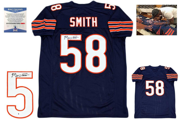 Roquan Smith Autographed Signed Jersey - Navy - Beckett