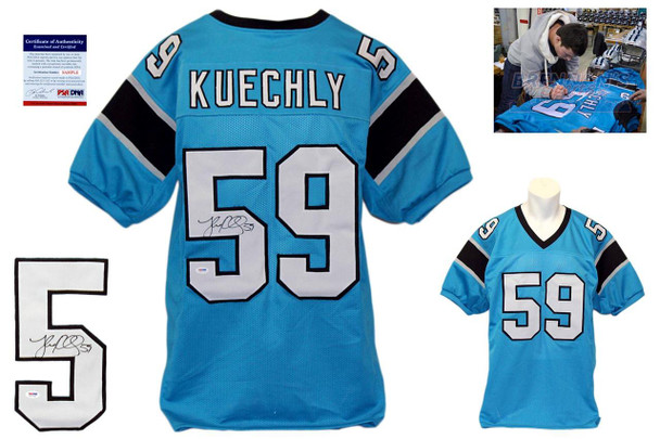 Luke Kuechly Autographed Signed Jersey - Blue - Beckett