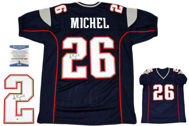 Sony Michel Autographed Signed Jersey - Navy - Beckett