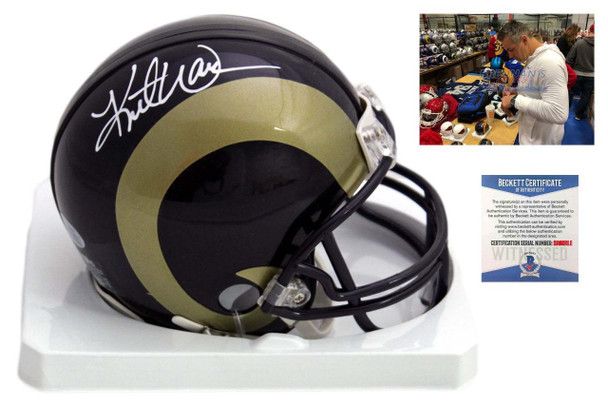 Kurt Warner Autographed Signed St. Louis Rams Mini Helmet - Beckett