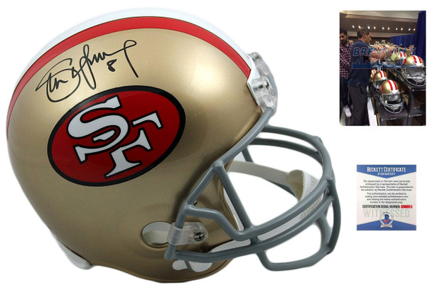 Steve Young Autographed Signed 49ers Full Size Helmet - Beckett
