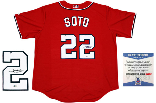 Juan Soto Autographed Washington Nationals Majestic Jersey - Beckett Authentic