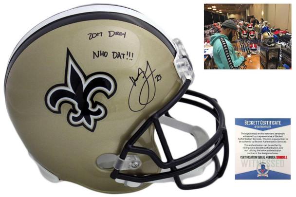 Marshon Lattimore Autographed Signed New Orleans Saints Helmet