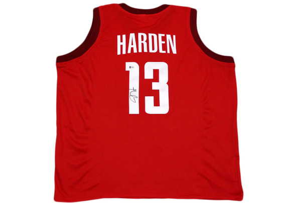James Harden Autographed Signed Jersey - Red - Beckett Authentic