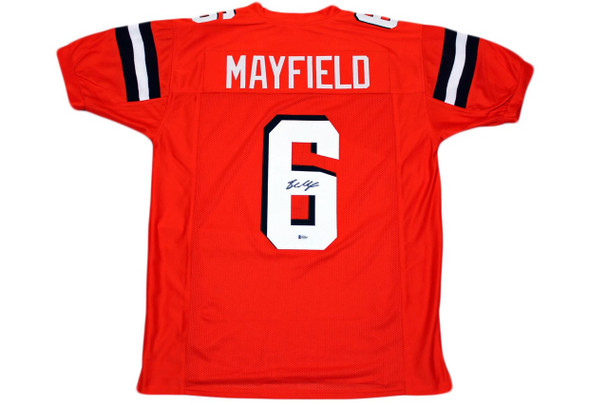 Baker Mayfield Autographed Jersey - Orange - Beckett Authentic