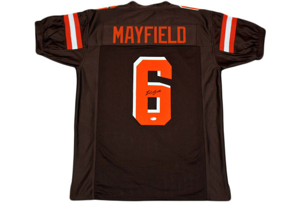 Baker Mayfield Autographed Signed Jersey - Brown - Beckett Authentic