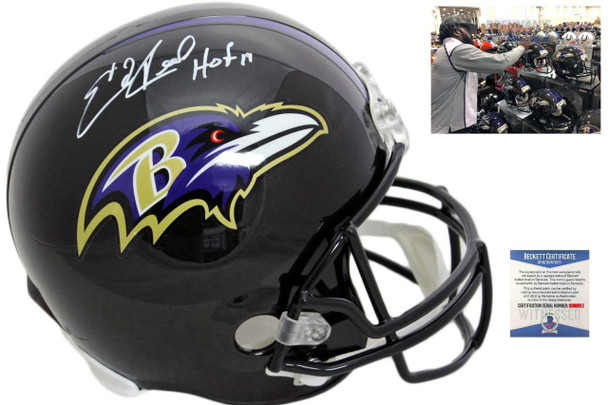 Baltimore Ravens Ed Reed Autographed Helmet - HOF 19 - Beckett Authentic
