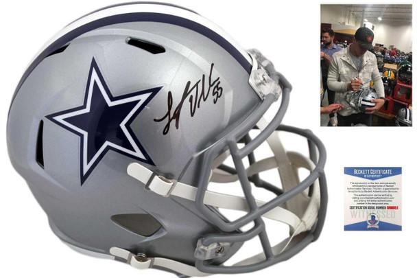 Dallas Cowboys Leighton Vander Esch Autographed Speed Helmet