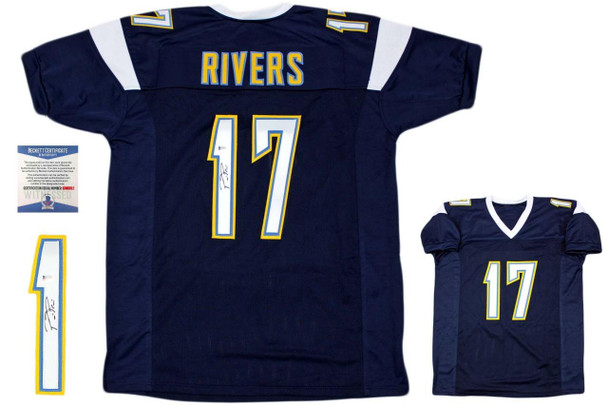 Philip Rivers Autographed Jersey - Beckett Authentic - Navy