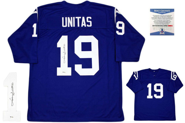 Johnny Unitas Autographed Signed Jersey - Beckett Authentic