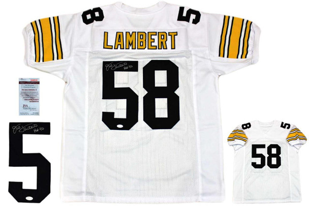 Jack Lambert Autographed Signed Jersey - White - JSA Witnessed