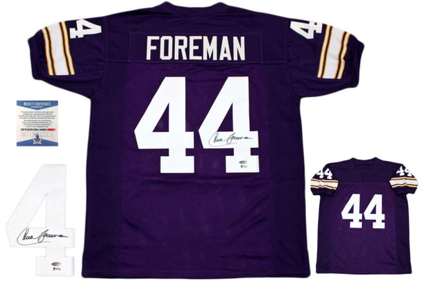 Chuck Foreman Autographed Signed Jersey - Purple