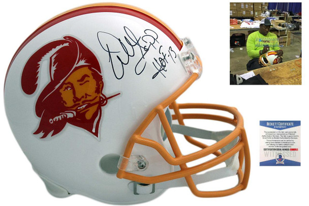 Buccaneers Warren Sapp Autographed Authentic Helmet - Beckett - TB