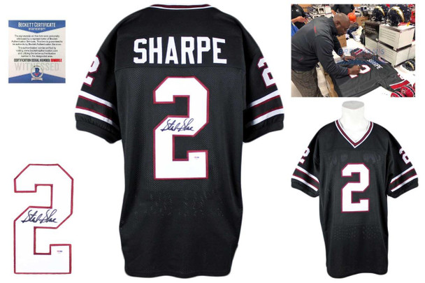 Sterling Sharpe Autographed Jersey - Black - Beckett Authentic