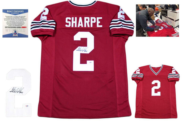 Sterling Sharpe Autographed Jersey - Red - Beckett Authentic