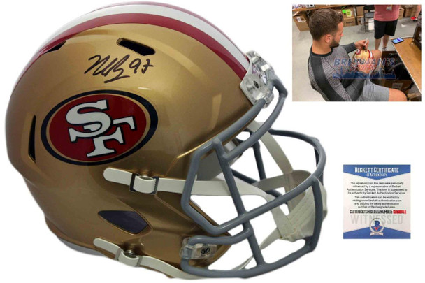 San Francisco 49ers Nick Bosa Autographed Signed Speed Helmet