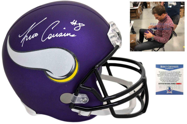 Vikings Kirk Cousins Autographed Signed Speed Helmet