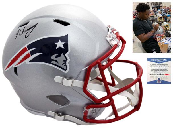 Patriots N'Keal Harry Autographed Signed Speed Helmet