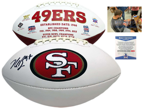 49ers Nick Bosa Autographed Signed Football