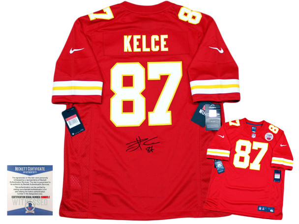 Chiefs Travis Kelce Autographed Signed Nike Gameday Jersey