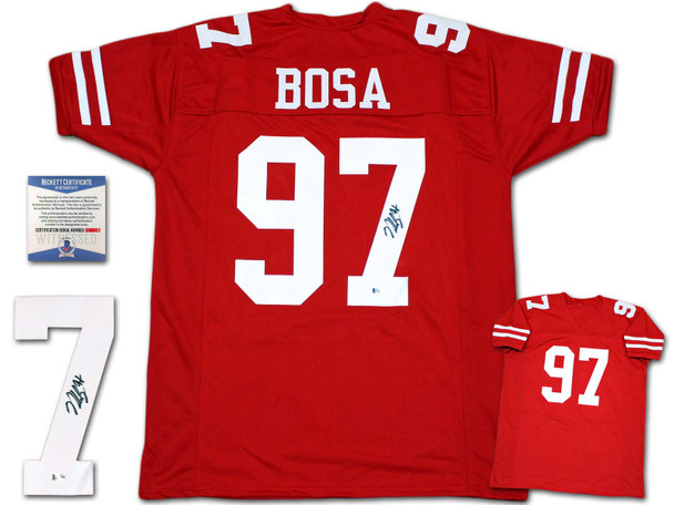 Nick Bosa Autographed Signed Jersey - Red