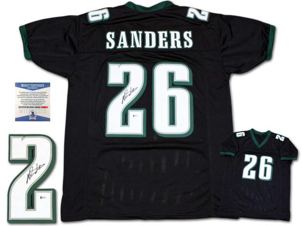 Miles Sanders Autographed Signed Jersey - Black