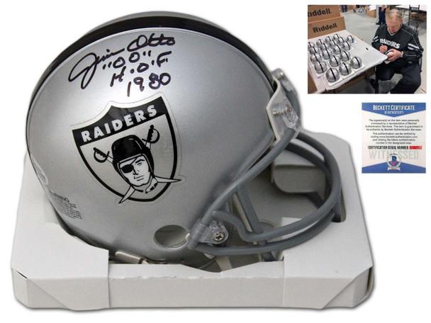 Oakland Raiders Jim Otto Autographed Signed Mini Helmet - TB