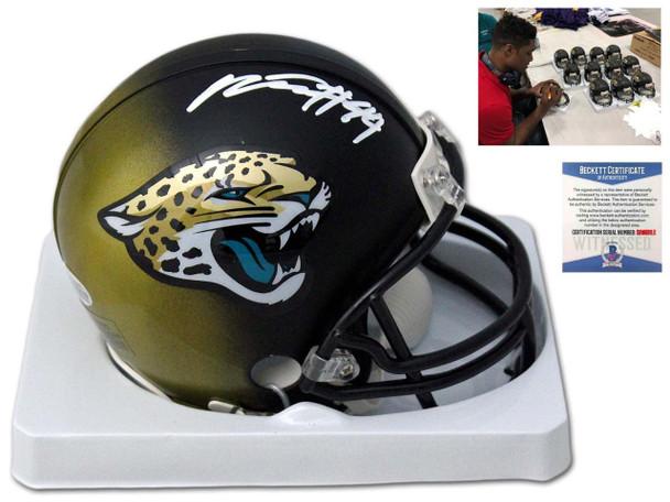 Jaguars Myles Jack Autographed Signed Mini Helmet