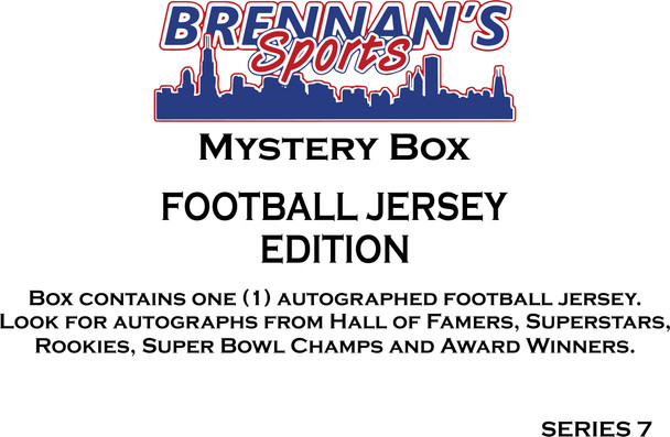 AUTOGRAPHED FOOTBALL JERSEY MYSTERY BOX - SERIES 7