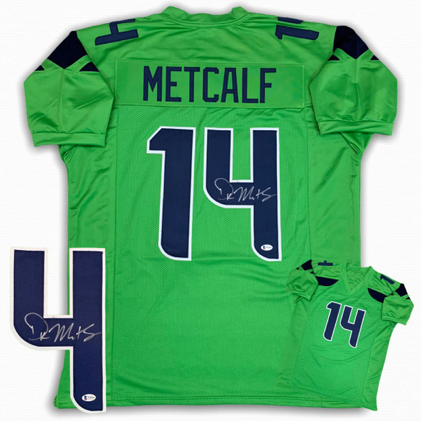 DK Metcalf Autographed Signed Jersey - Green