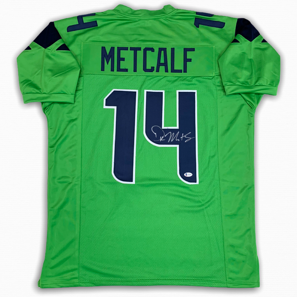 DK Metcalf Autographed Signed Jersey - Green - Beckett Authentic