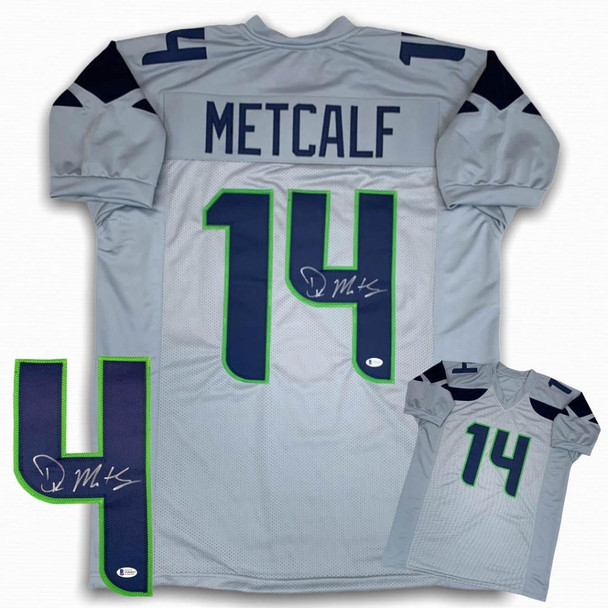 DK Metcalf Autographed Signed Jersey - Gray