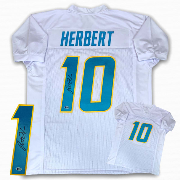Justin Herbert Autographed Signed Jersey - White - Beckett Authentic