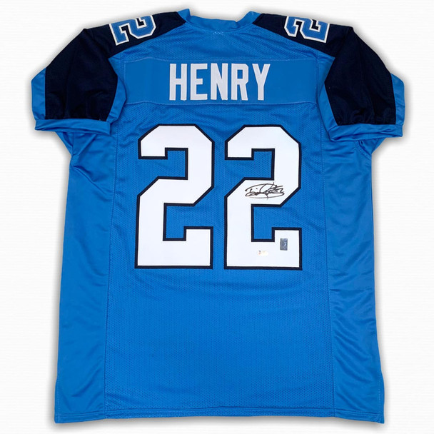 Derrick Henry Autographed Signed Jersey - Blue - Beckett Authentic