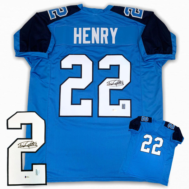Derrick Henry Autographed Signed Jersey - Blue