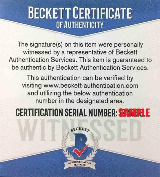 Brian Urlacher Autographed Signed Jersey - Orange - Beckett Witnessed