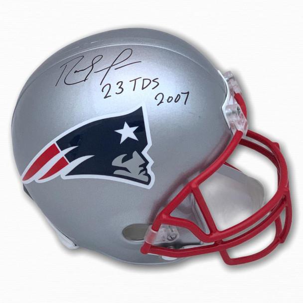 Patriots Randy Moss Autographed Signed Full Size Helmet