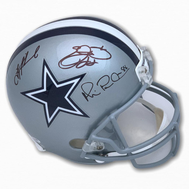 Cowboys Triplets Aikman, Smith, Irvin Autographed Signed Full Size Helmet