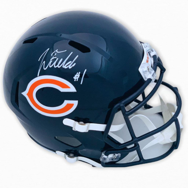 Chicago Bears Justin Fields Autographed Signed Speed Helmet