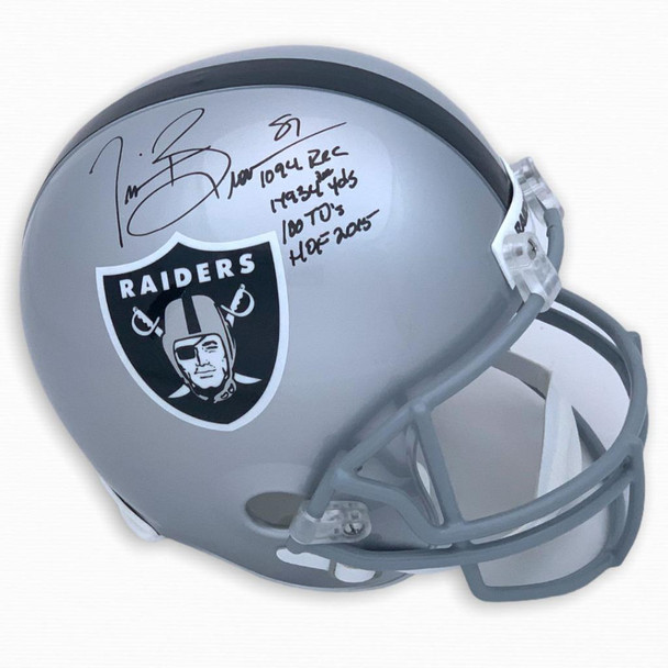 Oakland Raiders Tim Brown Autographed Signed Full Size Rep Helmet