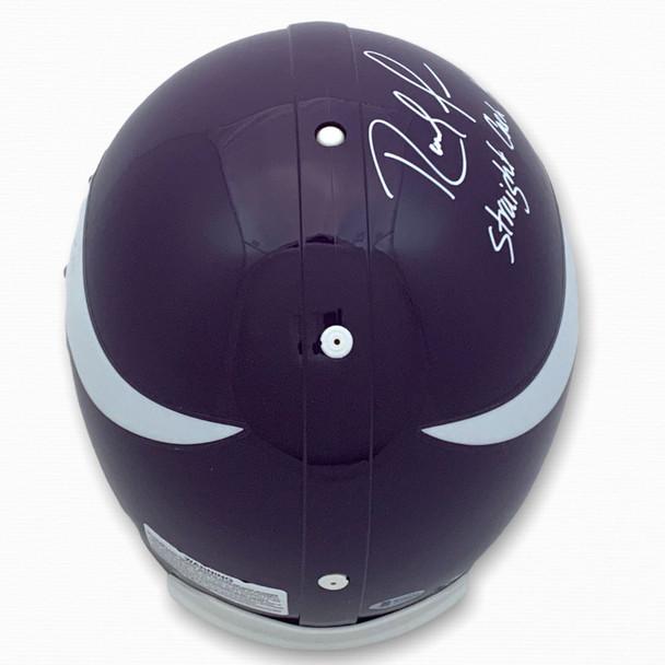Vikings Randy Moss Autographed Signed Authentic Helmet - Cash - Beckett