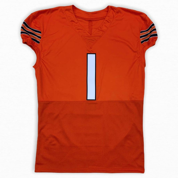 Justin Fields Autographed Signed Game Cut Jersey - Orange - Beckett Authentic
