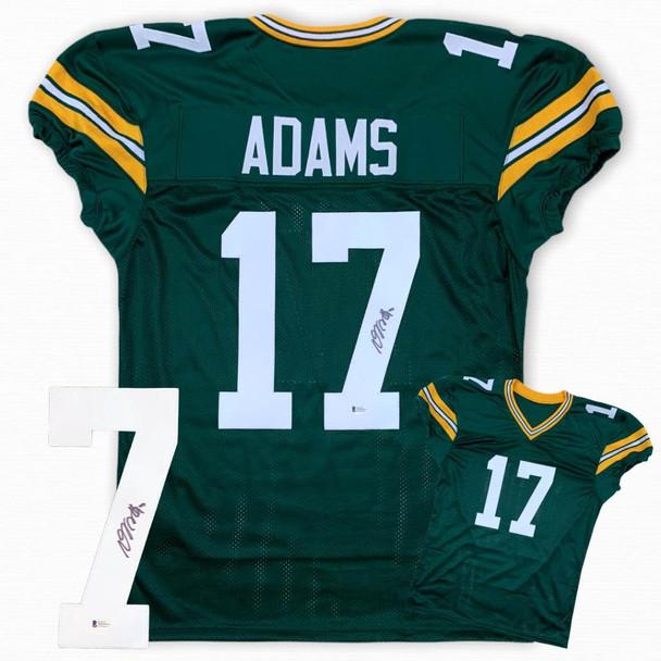 Davante Adams Autographed Signed Game Cut Jersey - Green