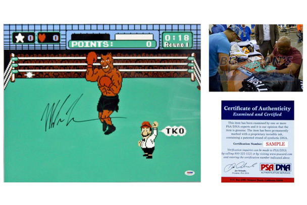 Mike Tyson Autographed Signed 16x20 Punch Out Photo - JSA Witnessed